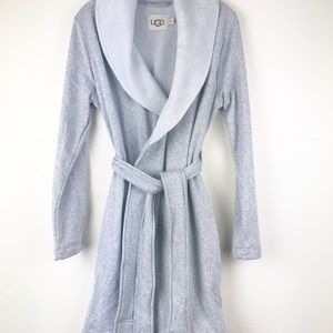 NEW UGG Women's Blanche Robe Grey Size Small